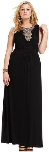 Design 365 Plus Size Dress, Sleeveless Cutout-Back Maxi