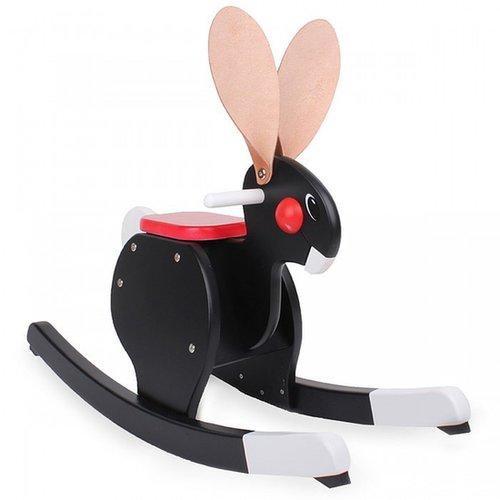 Playsam Black Rocking Rabbit