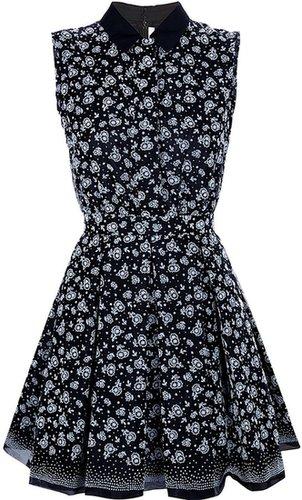 Victoria Beckham floral sleeveless shirt dress