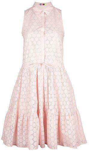 Msgm Perforated shirt dress