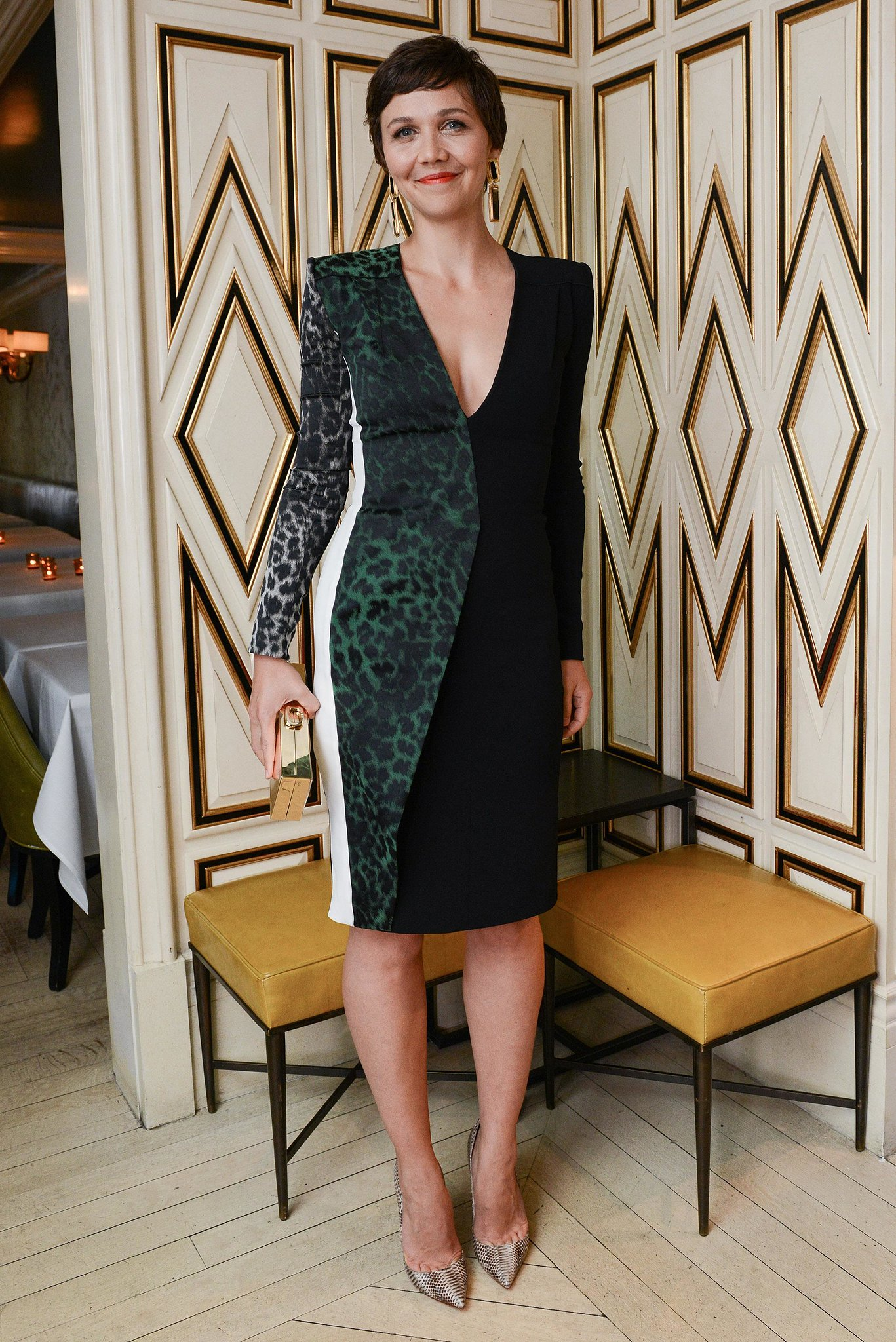 Maggie Gyllenhaal at the Bergdorf Goodman dinner honoring Roland Mouret in New York.  Photo courtesy of Dean Neville/BFAnyc.com