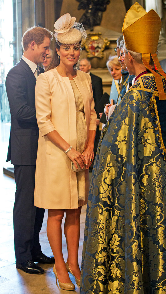 Kate attended Queen Elizabeth II's 60th coronation anniversary service at Westminister Abbey in London on June 4, 2013.