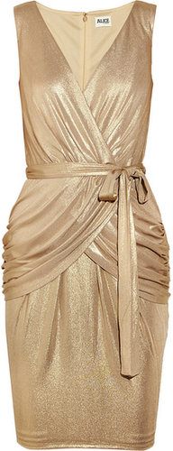 ALICE by Temperley River metallic stretch-jersey dress
