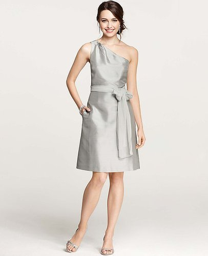 Silk Dupioni One Shoulder Dress