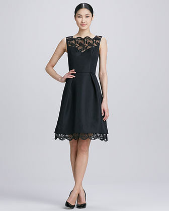 Theia Sleeveless Fit-and-Flare Cocktail Dress