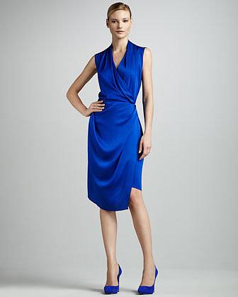 Rachel Roy Sleeveless Silk Wrap Dress