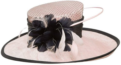 Jacques Vert Shell pink occasion hat