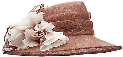John Lewis Paige Flower Occasion Hat, Pink Mocha