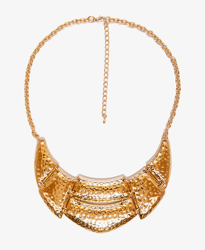 FOREVER 21 Dimpled Bib Necklace