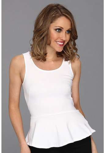 Brigitte Bailey - Carabelle Peplum Top (White) - Apparel