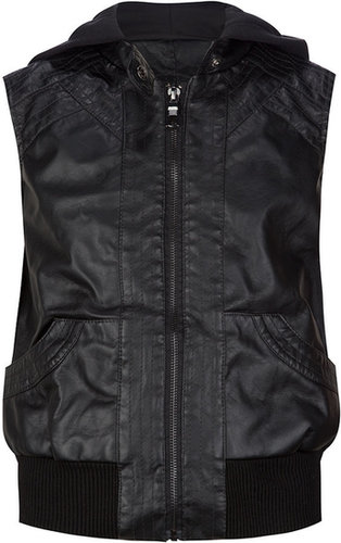 FULL TILT Faux Leather Girls Vest