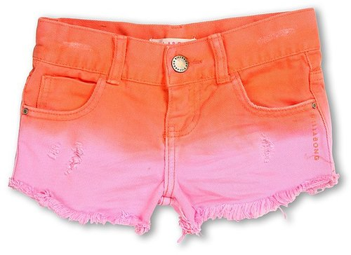 Billabong Kids - To Dye Denim Short (Little Kids/Big Kids) (Pink Punch) - Apparel