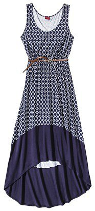 Merona® Women's Hi-Lo Hem Maxi Dress w/Belt - Prints