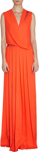 Cedric Charlier Pleated Gown