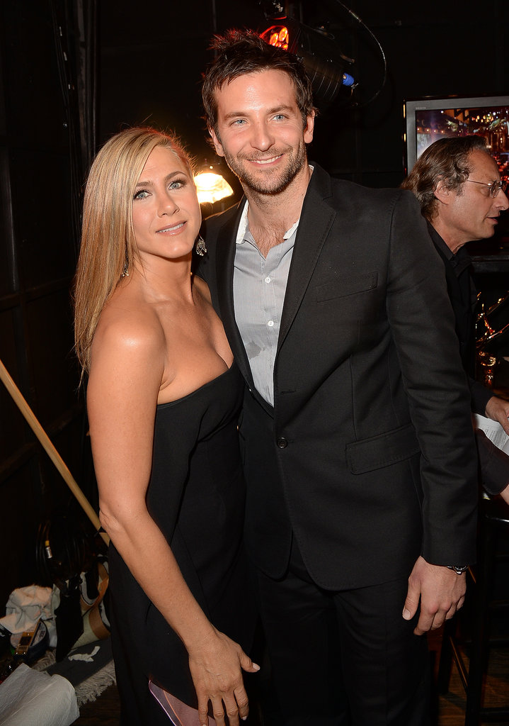 Jennifer Aniston and Bradley Cooper hugged it out at the Spike TV Guys Choice Awards in LA on June 8.