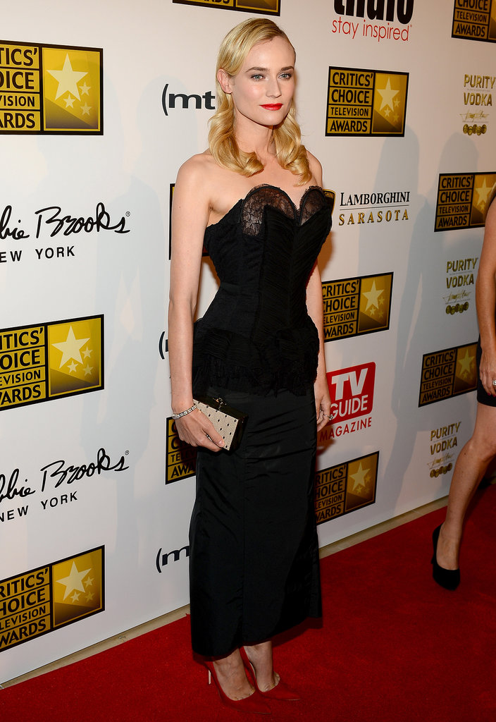 Diane Kruger added a glamorous edge to the red carpet at the Third Annual Critics Choice Television Awards in LA on June 11.