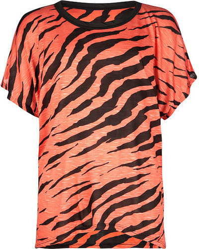 FULL TILT Zebra Slub Girls Top