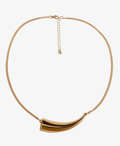 FOREVER 21 Metal Tusk Necklace