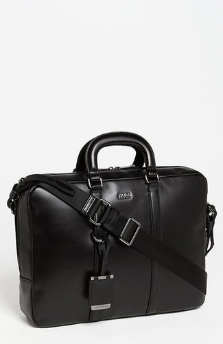 BOSS Black 'Possiv' Leather Briefcase