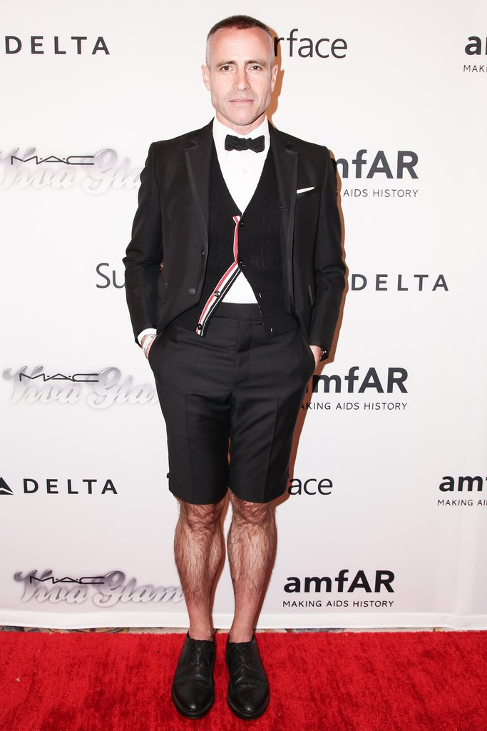 Thom Browne hit the red carpet in a bow tie and shorts. Source: Matteo Prandoni/BFAnyc.com