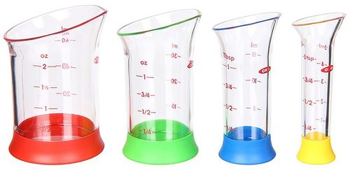 OXO - Good Grips 4-Piece Mini Measuring Beaker Set (Clear) - Home