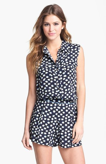 Two by Vince Camuto Sleeveless Floral Shirt