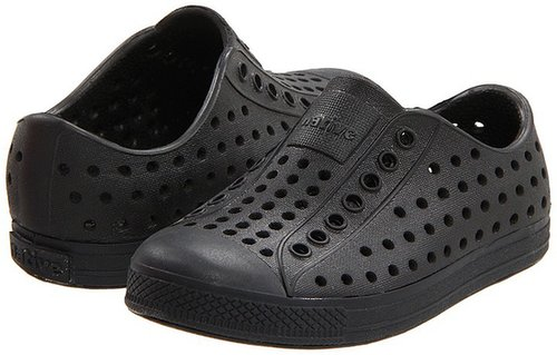 Native Kids Shoes - Jefferson (Infant/Toddler/Youth) (Jiffy Black Solid) - Footwear