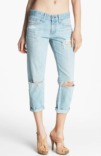 AG Jeans 'Piper' Distressed Crop Jeans (26 Year Thrasher)