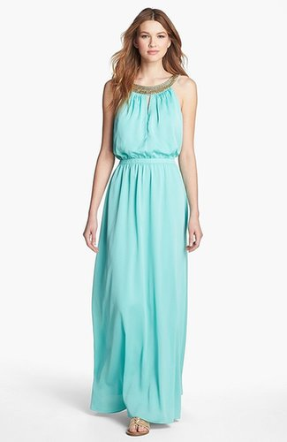 Vince Camuto Embellished Blouson Maxi Dress