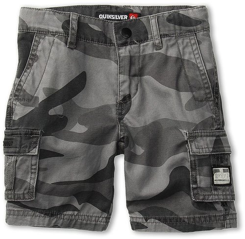 Quiksilver Kids - Sue Fley Camo Walkshort (Toddler/Little Kids) (Smoke) - Apparel