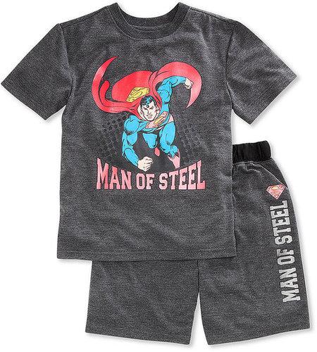 DC Comics Kids Pajamas, Boys or Little Boys Superman 2-Piece Sets