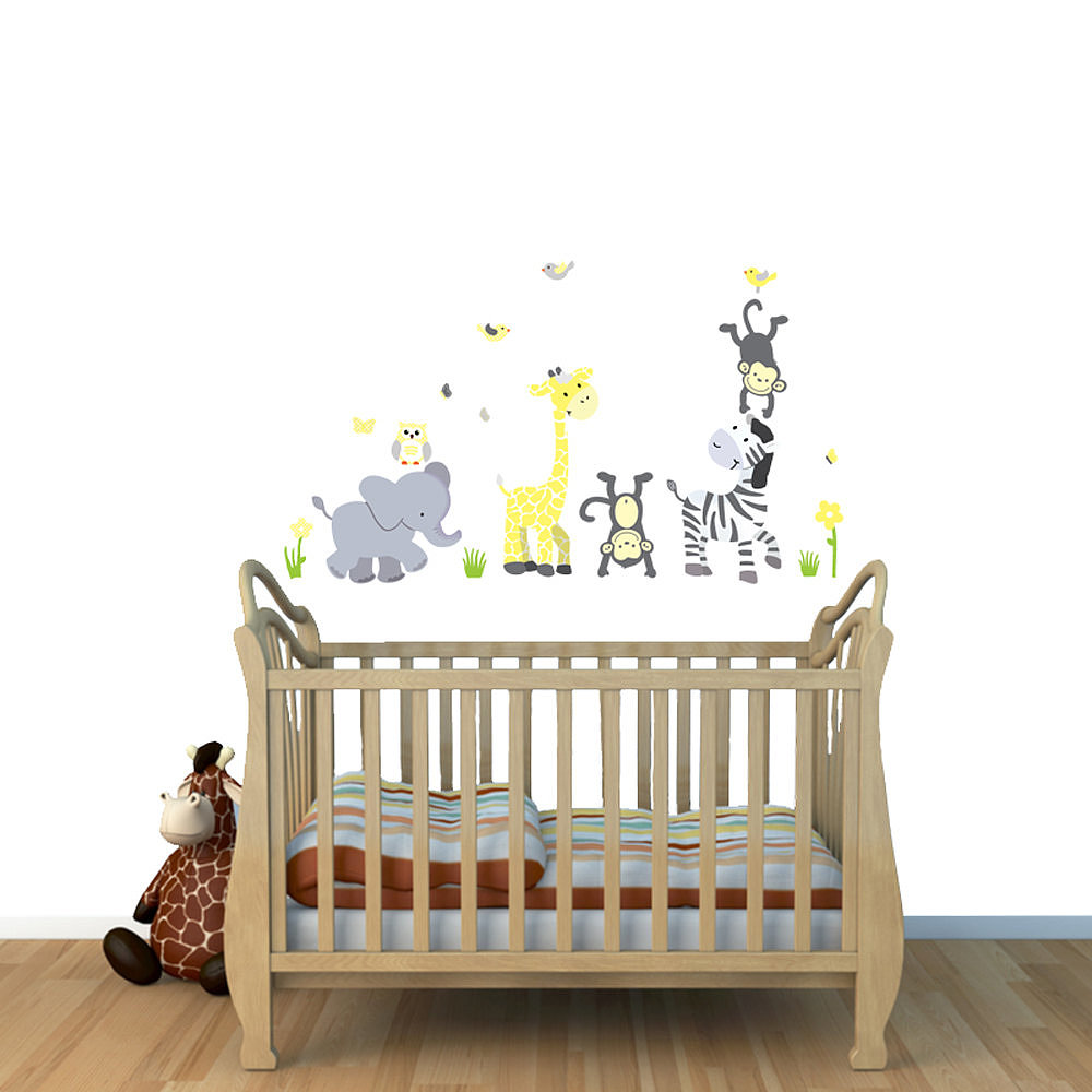 Use these jungle decals ($25) to inspire your nursery's theme. They can easily be removed or replaced over time.
