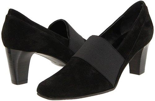 Vaneli - Setter (Black Suede/Black Elastic) - Footwear