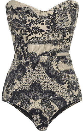 Zimmermann Collision underwired printed swimsuit