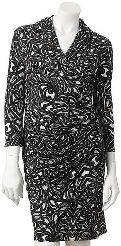 Jennifer lopez scroll faux-wrap dress