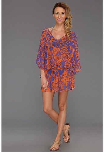 Vix - Antigua Vintage Caftan Cover Up (Blue) - Apparel