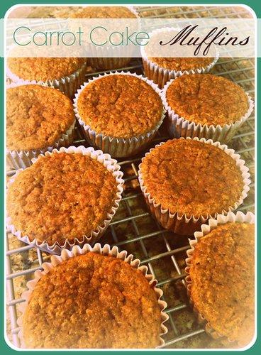 Gluten Free Carrot Cake Muffins