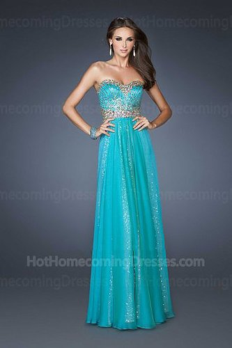 Floor Length Peacock Chiffon Formal Homecoming Dress 2013 for Cheap
