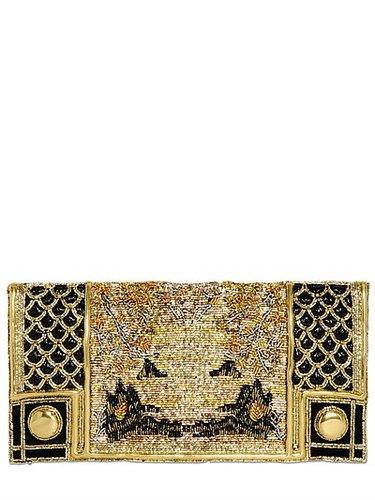 Embroidered Silk Clutch
