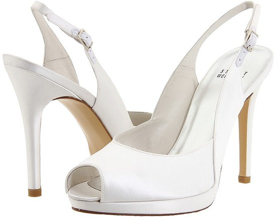 Stuart Weitzman Bridal & Evening Collection - Slingsong (White Satin) - Footwear