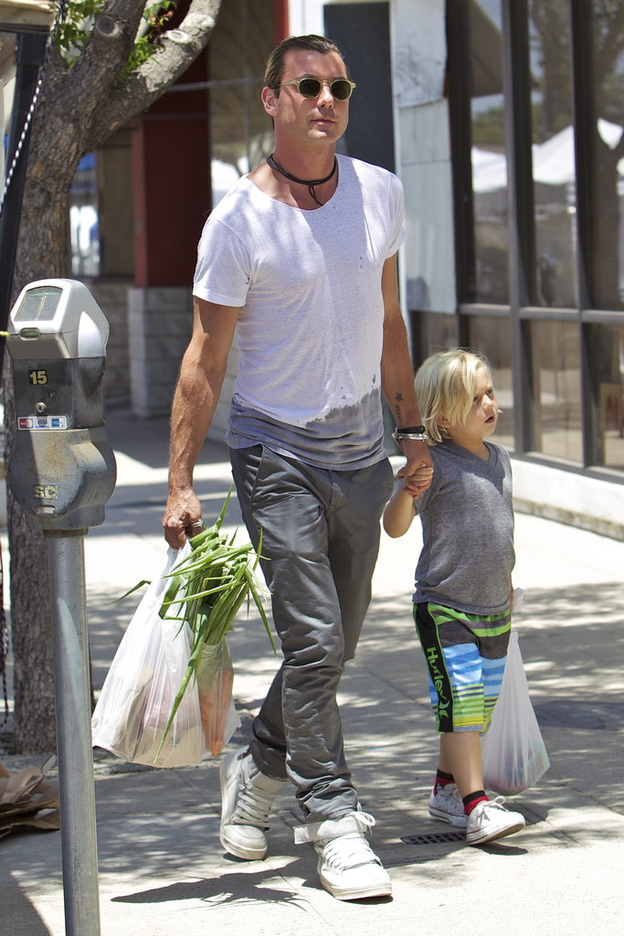 Gavin Rossdale spent Father's Day with his son Zuma at the Studio City farmers market on Sunday.