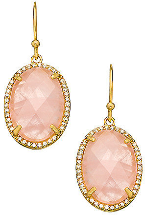 Seraphina Rose Quartz Drop Earrings
