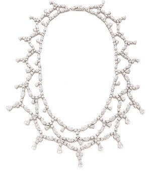 Kenneth jay lane Draped Collar CZ Necklace