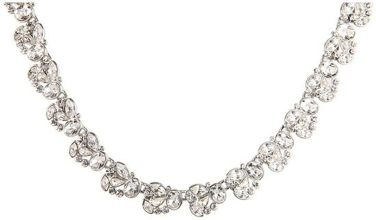 Nina - Nanette Floral Crystal Necklace (Clear Floral) - Jewelry