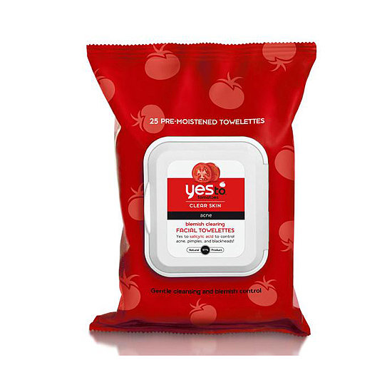 We're obsessed with face wipes, and Yes to Tomatoes Blemish Clearing Towelettes ($6) removes makeup and kicks acne in the tush.