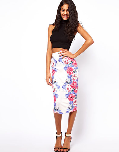 ASOS Pencil Skirt in Mirror Floral Print