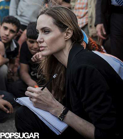 Angelina Jolie took notes.