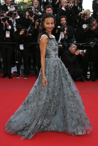 Zoe was stunning in Valentino at the Cannes premiere of Blood Ties in May 2013.