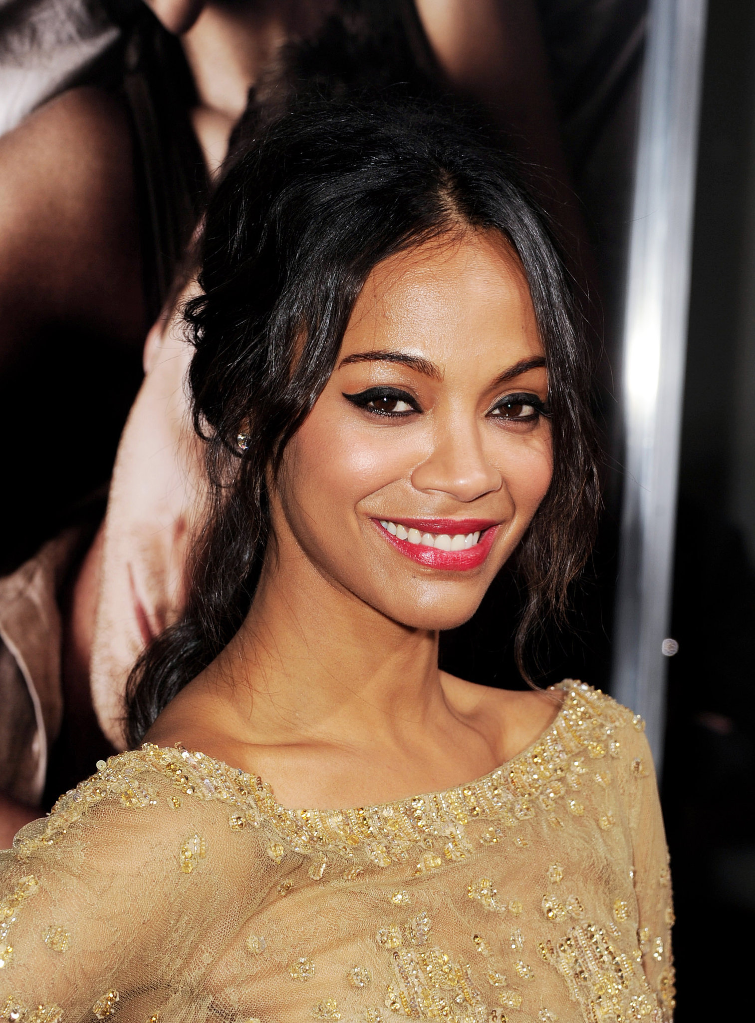 For the premiere of The Words in 2012, Zoe amped up her signature cat eye and paired it with glossy red lips.