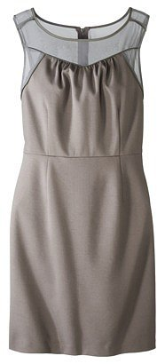 Mossimo® Women's Ponte Dress w/Sheer Front - Assorted Colors